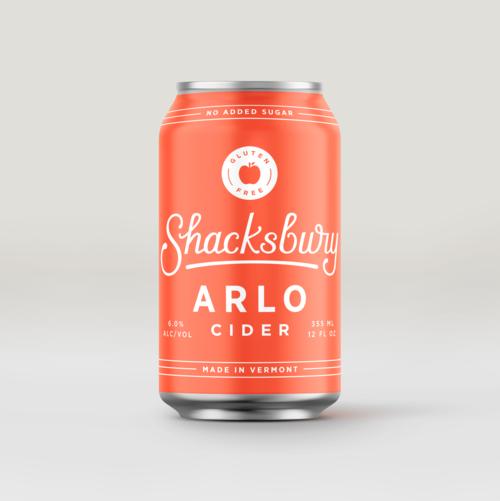 Can of Shacksbury Arlo cider